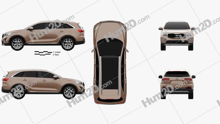 Kia Sorento UM 2015 car clipart