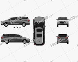 Kia Sedona SXL 2015 clipart