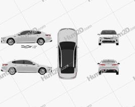 Kia Optima 2016 car clipart