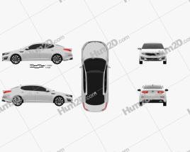 Kia Optima 2015 car clipart