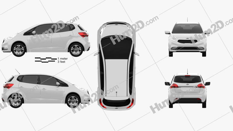 Kia Venga 2015 car clipart