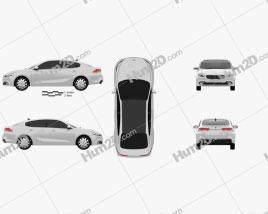 Kia K4 2015 car clipart