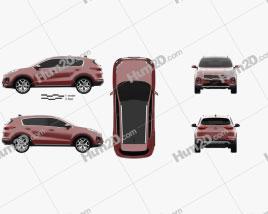 Kia Sportage GT-Line 2016 car clipart