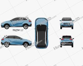 Kia KX3 2015 car clipart