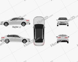 Kia K5 MX 2016 car clipart