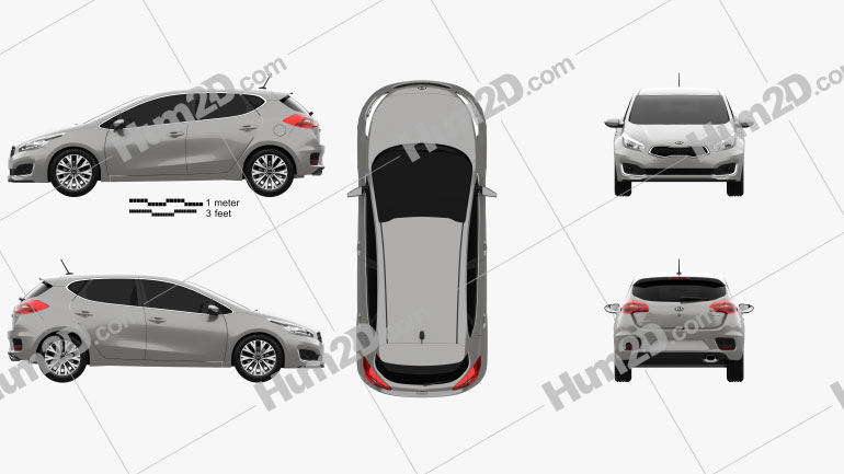 Kia Ceed EcoDynamics hatchback 2015 car clipart