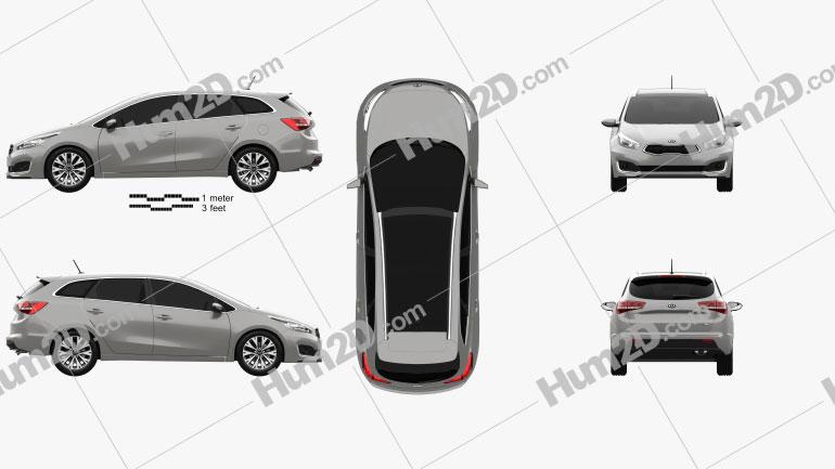 Kia Ceed SW EcoDynamics 2015 car clipart