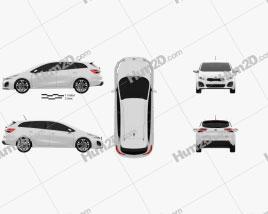 Kia Ceed SW GT Line 2015 Clipart