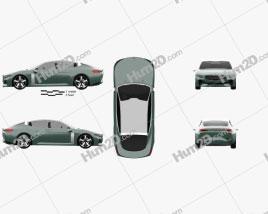 Kia Novo 2015 car clipart