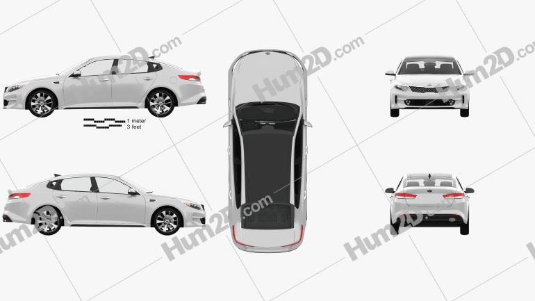 Kia K5 MX with HQ interior 2016 car clipart