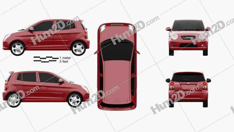 Kia Picanto (Morning) (SA) 2008 car clipart