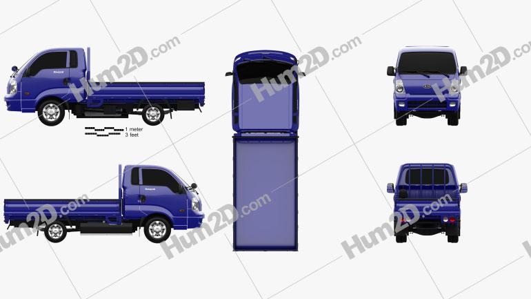 Kia Bongo (PU) Pickup 2004 clipart