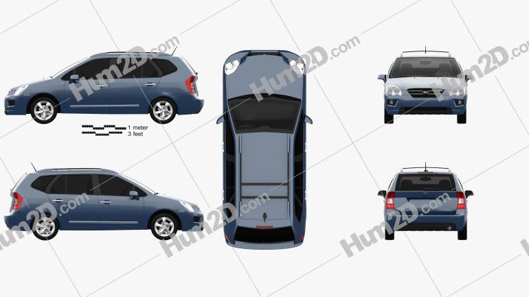 Kia Carens 2006 Clipart Image