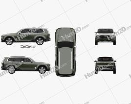 Kia Telluride 2016 car clipart