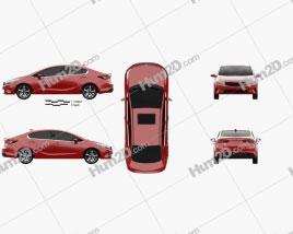 Kia K3 2016 car clipart