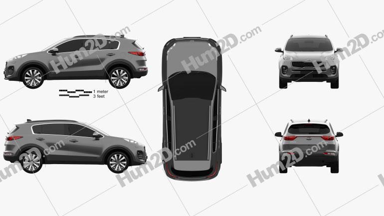 Kia Sportage 2016 car clipart