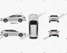 Kia Optima wagon 2017 car clipart