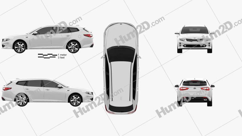 Kia Optima wagon 2017 Clipart Image