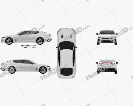 Kia Stinger GT 2017 Clipart