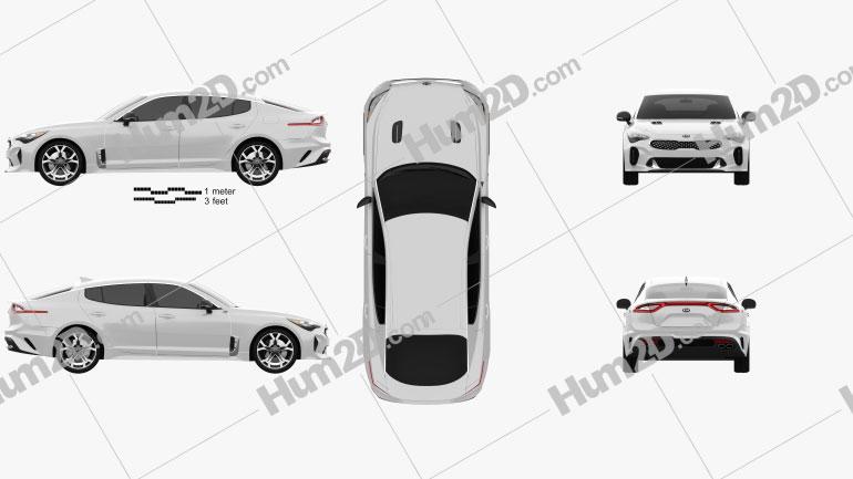 Kia Stinger GT 2017 Imagem Clipart