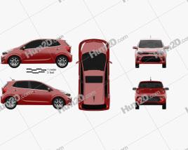 Kia Picanto (Morning) 2017 car clipart