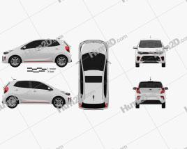 Kia Picanto (Morning) GT-Line 2017 car clipart