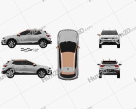Kia Stonic 2018 car clipart