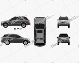 Kia Sorento EX US-spec 2002 car clipart