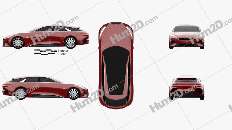 Kia Proceed 2017 car clipart