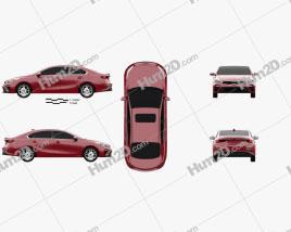 Kia Forte 2018 car clipart