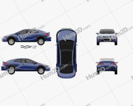 Kia Forte Koup Mud Bogger 2015 car clipart