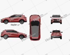 Kia Sportage GT-line 2018 car clipart