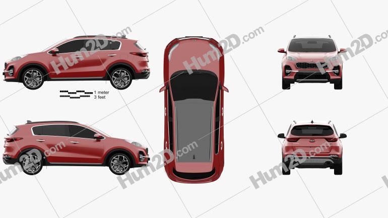Kia Sportage GT-line 2018 Clipart Image
