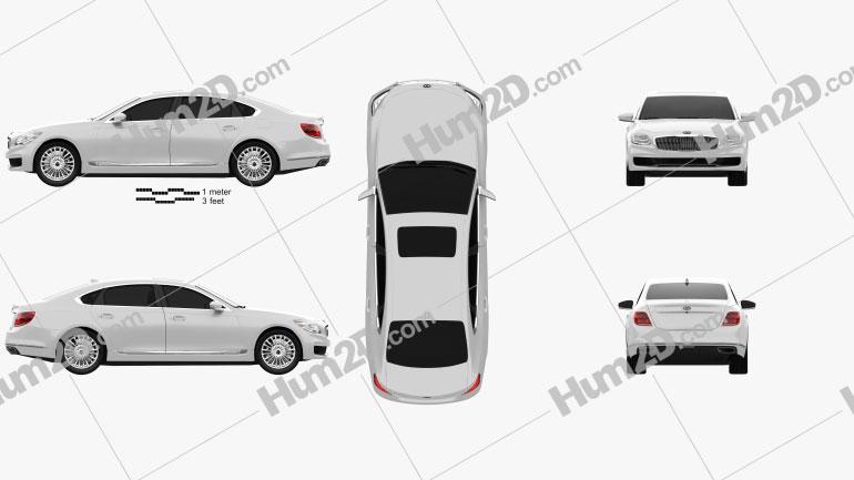 Kia K900 2019 Clipart Bild