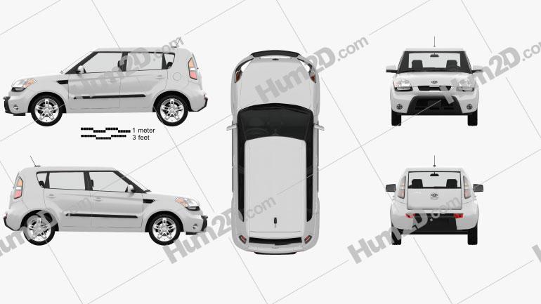 Kia Soul mit HD Innenraum 2009 car clipart