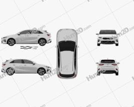 Kia Ceed hatchback 2018 car clipart