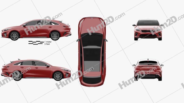 Kia Ceed Pro GT-Line 2019 car clipart
