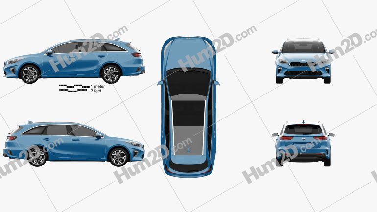 Kia Ceed sportswagon 2018 car clipart