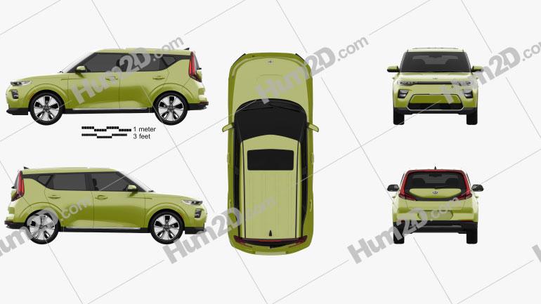 Kia Soul EV 2019 car clipart
