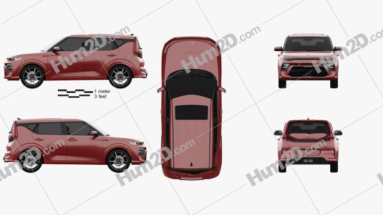 Kia Soul GT-Line Turbo 2019 car clipart