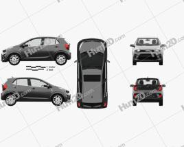 Kia Picanto Comfort Plus with HQ interior 2017 car clipart