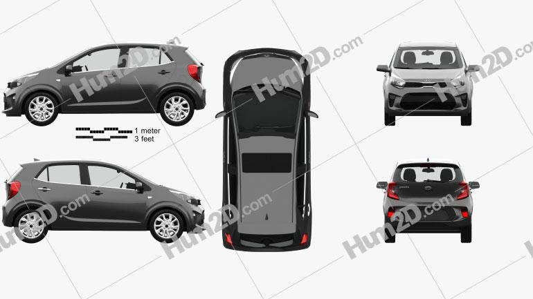 Kia Picanto Comfort Plus mit HD Innenraum 2017 car clipart