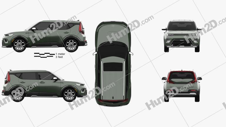Kia Soul X-Line 2019 car clipart