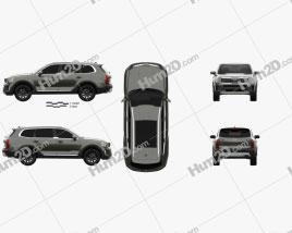 Kia Telluride 2019 car clipart