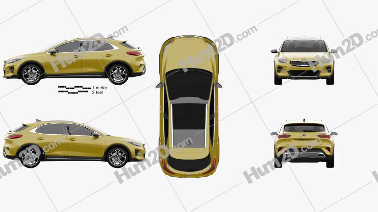 Kia XCeed 2019 Clipart Image