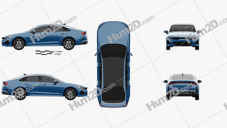 Kia K5 2020 car clipart