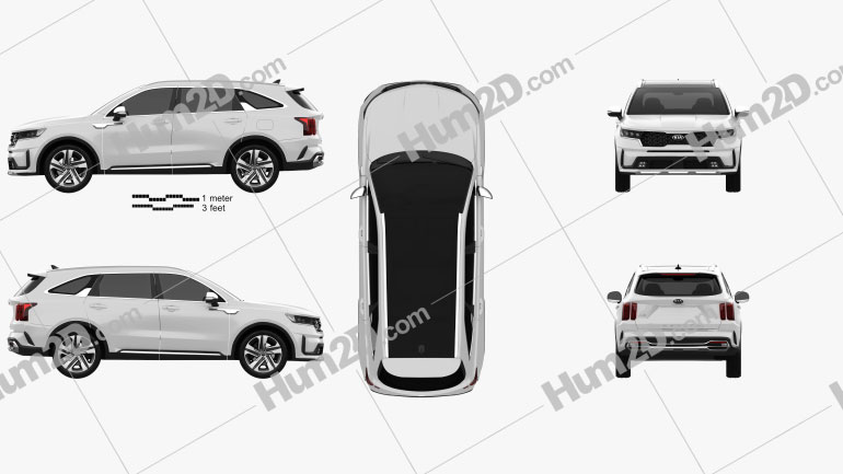 Kia Sorento EcoHybrid 2020 car clipart