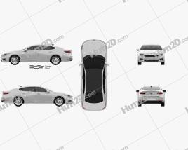 Kia Cadenza 2017 car clipart