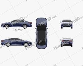 Kia Cadenza US-spec 2020 car clipart