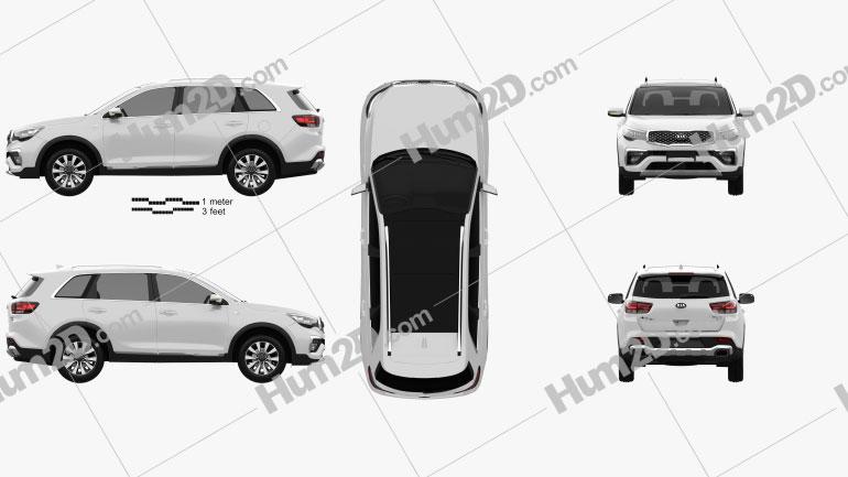 Kia KX7 2017 car clipart